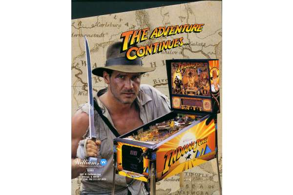 INDIANA JONES : The Pinball Adventure 1993 sofel jeux